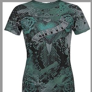 Sinful by Affliction Women's Slim Fit T-shirt